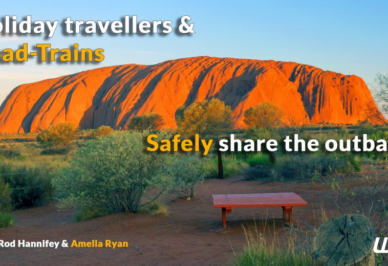 Caravans and Road-Trains share the outback